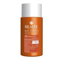 Флюид SPF 50+ для чувствительной кожи с pro-DNA complex, 50 мл Rilastil Sun System Comfort Fluid protezione solare Viso SPF 50+