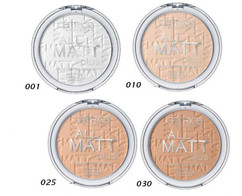 Пудра компактная All Matt Plus Shine Control Powder Catrice