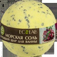 Бурлящий шар для ванны Чёрная смородина и Клюква «ECOLAB»