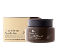 Крем витаминный  для кожи вокруг глаз с экстрактом настоящей ЧЕРНОЙ улитки The real BLACK snail Vitamin Eye Cream SINABRO