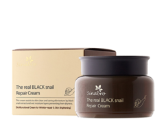 Крем восстанавливающий с экстрактом настоящей ЧЕРНОЙ улитки The real BLACK snail Repair Cream SINABRO