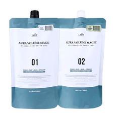 Комплекс для выпрямления поврежденных волос (этап 1 - средство для выпрямления волос, этап 2 - крем- нейтрализатор) LA'DOR AURA VOLUME MAGIC - DAMAGED AURA VOLUME MAGIC 01 (500ml) AURA VOLUME MAGIC 02 CREAM (500ml)