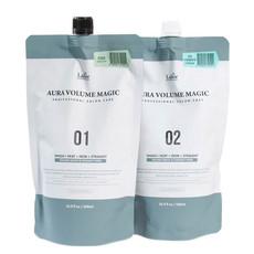 Комплекс для выпрямления нормальных волос (этап 1 - средство для выпрямления волос, этап 2 - крем- нейтрализатор) LA'DOR AURA VOLUME MAGIC - HEALTHY AURA VOLUME MAGIC 01 (500ml) AURA VOLUME MAGIC 02 CREAM (500ml)