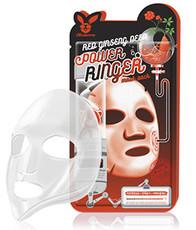 Тканевая омолаживающая маска с женьшенем ELIZAVECCA Red Ginseng Deep Power Ringer Mask Pack