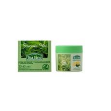 """Крем ночной успокаивающий """"Зеленый чай с лимоном и липой"""" Tea Line"""