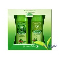 """Набор косметики """"Зеленый чай: уход за волосами"""" Tea Line"""