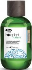 Очищающий шампунь для волос от перхоти Keraplant Nature purifying Lisap