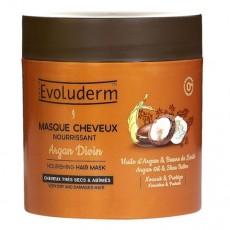 Питательная маска для волос с аргановым маслом и маслом Ши EVOLUDERM NOURISHING HAIR MASK Argan Oil & Shea Butter