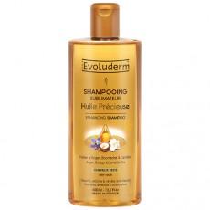 """Шампунь для сухих волос """"Драгоценное масло"""" Shampooing Huile Precieuse Evoluderm"""