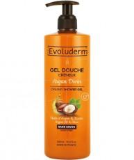 Кремовый гель для душа с аргановым маслом и маслом Ши Evoluderm CREAMY SHOWER GEL Argan Oil & Shea