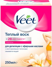 Теплый воск для депиляции с эфирными маслами VEET