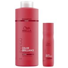 Шампунь для защиты цвета окрашенных нормальных/тонких волос INVIGO color brilliance WELLA