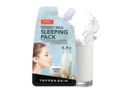 Маска для лица ночная с молоком ослицы Donkeymilk Sleeping Pack YEPPEN SKIN