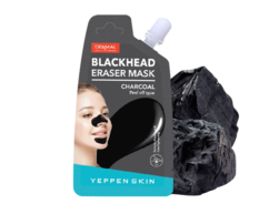 Маска-пленка угольная для очищения пор Blackhead Eraser Mask - Charcoal YEPPEN SKIN