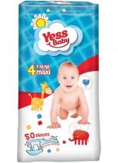 Подгузники Yess Baby Jumbo 4 Maxi (7-18 кг) 50 шт