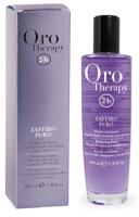 Флюид с микрочастицами золота и сапфира для блеска светлых и обесцвеченных волос Oro Therapy 24k Zaffiro Puro Fanola
