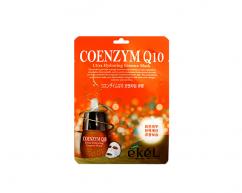 Тканевая маска для лица COENZYM Q10 с коэнзимом омолаживающая EKEL