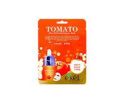 Тканевая маска для лица TOMATO с экстрактом томата освежающая EKEL