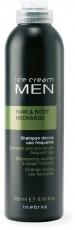 MEN Мужской шампунь-гель для волос и тела для ежедневного использования HAIR & BODY RECHARGE INEBRYA