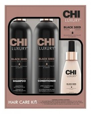 Набор CHI LUXURY Hair Care Kit: (2+1) Shampoo 355ml + Conditioner 355ml + Leave-in Conditioner 118ml