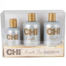 Набор CHI KERATIN TRIO набор: Shampoo 355ml + Conditioner 355ml + Keratin Silk Infusion 177ml