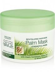 """Восстанавливающая маска для всех типов волос с пальмовым маслом и пшеничными протеинами""""Упругость и блеск"""" Palm Mask Seri Natural Line Farcom"""