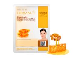 Маска для лица Пчелиное маточное молочко и коллаген/Royal Jelly Collagen Essence Mask Dermal
