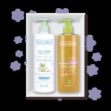 Подарочный набор Evoluderm (Гель для душа Protective Shower Gel , 500 мл + Защитный лосьон для тела с миндальным молочком и маслом Ши, 500мл)
