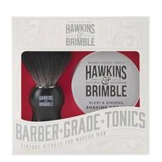 Набор для бритья Hawkins & Brimble Shaving Gift Set (Помазок, крем для бритья)