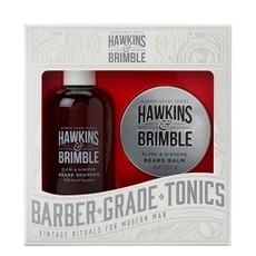 Набор для ухода за бородой Hawkins & Brimble Beard Gift Set (Бальзам для бороды, шампунь для бороды)